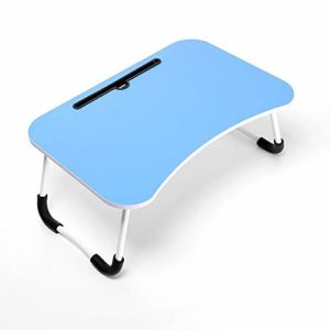 Tarkan Stud Foldable Wooden Mini Lapdesk for Couch, Sofa Bed, Study Tray Table Stand for Writing (Sky Blue)