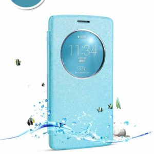 TARKAN Nillkin Sparkle Beat Protective Slim Flexible Mini Luxury Flip Cover for LG G3 (Blue)