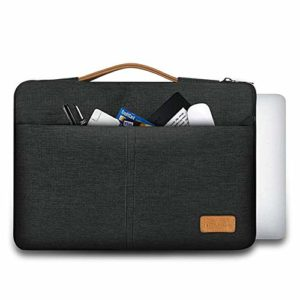 Tarkan Elite Laptop Sleeve Compatible with 15-15.6 Inch MacBook Pro & Others, Padded Waterproof Bag with Handle (Grey)