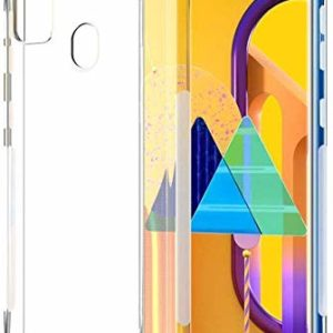 Tarkan Shock Proof Protective Soft Back Case Cover for Samsung Galaxy M21 (Transparent) [Bumper Corners with Air Cushion Technology]
