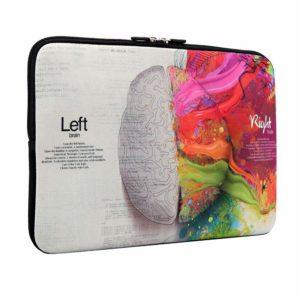 Tarkan Printed Slim Laptop Sleeve Bag for 13.5-14.5 Inch Laptops (Left & Right Brain)