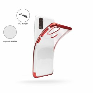 Tarkan Transparent Soft Back Case Cover for Samsung Galaxy M21 – Luxuriously Electroplated (Wine Red)