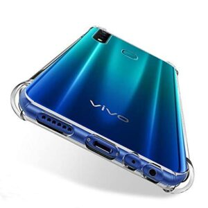 Tarkan Shock Proof Protective Soft Back Case Cover for Vivo Z1 Pro (Transparent) [Bumper Corners with Air Cushion Technology]