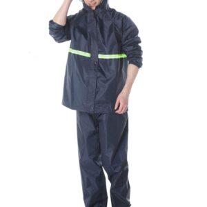 Tarkan v2.0 Heavy Duty Waterproof Windproof Rain Suit Jacket and Pant Set Raincoat for Men (Extra Strong)