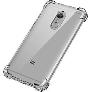 Tarkan Shock Proof Protective Soft Transparent Back Case Cover for Xiaomi Redmi Note 4 [Bumper Corners] for Indian Version