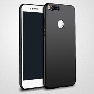 Tarkan Royal Slim Flexible Soft Back Case Cover 360 Degree Coverage for Xiaomi Mi A1 [Matte Black]