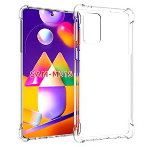 Tarkan Shock Proof Protective Soft Back Case Cover for Samsung Galaxy M31s (Transparent) [Bumper Corners with Air Cushion Technology]