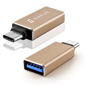 Tarkan USB Type C 3.1 Male to USB 3.0 Type A Female Adapter (Type C OTG Host) for OnePlus 5, OnePlus 3 / 3T, MacBook, Nexus 6P, Nexus 5X, Le 2s / Pro, and Other Devices [Gold]