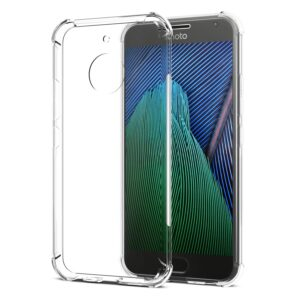 Tarkan Back Cover – Shock Proof Protective Soft Back Case [Bumper Corners with Air Cushion Technology] For Moto G5s Plus (Transparent)