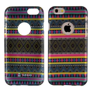 TARKAN Aztec Water-Transfer Print Rubber Protective Back Cover for Apple iPhone 6 Plus / 6s Plus 5. 5 inch