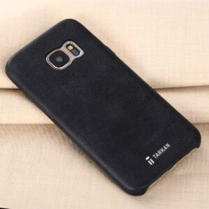Tarkan Leather Case Slim Scratch Resistant Protective Back Case Cover for Samsung Galaxy S6 (Black)