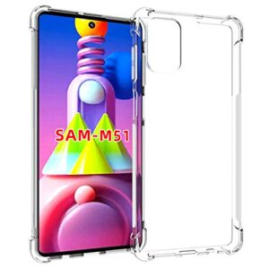 Tarkan Shock Proof Protective Soft Back Case Cover for Samsung Galaxy M51 (Transparent) [Bumper Corners with Air Cushion Technology]