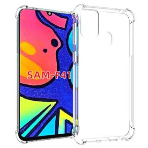 Tarkan Shock Proof Protective Soft Back Case Cover for Samsung Galaxy F41 (Transparent) [Bumper Corners with Air Cushion Technology]