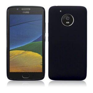 GoRogue Royal Slim Flexible Soft Silicon Back Case Cover for Moto G5 Plus [Jet Black]