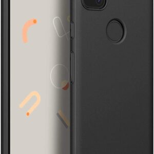 Tarkan Royal Slim Flexible Soft Back Case Cover for Google Pixel 4a (4G, Black) 360 Degree Coverage