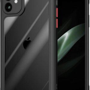 Tarkan Air Hybrid Transparent Protective Soft Back Bumper Case Cover for Apple iPhone 11 (Black Border)