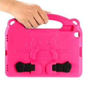 Tarkan Kids Shockproof Protective Back Case Cover with Stand & Handle for Samsung Galaxy Tab A 10.1 Inch Tablet (PINK)
