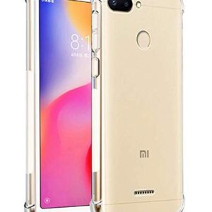 Tarkan Redmi 6 Case – Shock Proof Protective Soft Transparent Back Cover for Redmi 6 [Bumper Corners with Air Cushion Technology]