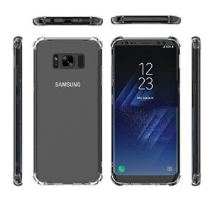 Tarkan Shock Proof Protective Soft Transparent Back Case Cover for Samsung S8 5.8 Inch [Bumper Corners]