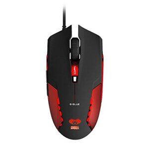 E-Blue Cobra Optical USB LED Gaming Mouse 1600 DPI Switch – RED