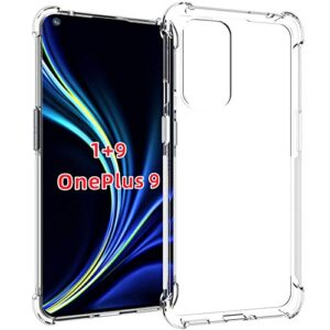 Tarkan Shock Proof Protective Soft Clear Back Case Cover for OnePlus 9 5G (Transparent) [Bumper Corners with Air Cushion Technology]