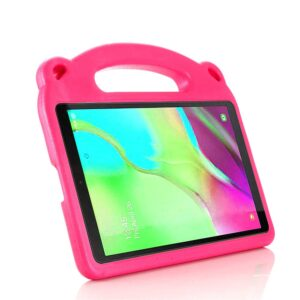 Tarkan Kids Shockproof Back Case Cover with Stand & Handle for Samsung Galaxy Tab A7 10.4 Inch Tablet [SM-T500 / T505/ T507] 2020 Launch (Pink)