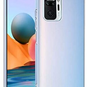 Tarkan Shock Proof Protective Soft Back Case Cover for Redmi Note 10 Pro (Transparent) [Bumper Corners with Air Cushion Technology]