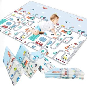 Tarkan Extra Large Reversible Baby Play Mat, Thick BPA Free Learning & Crawling Foladable Foam Mat for Kids, Toddlers (6.5×5 ft)